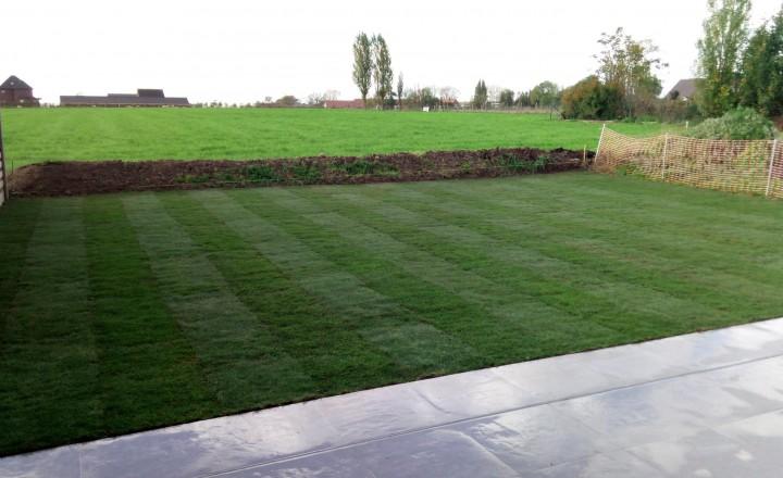 Gazons - Ook in het najaar kan je graszoden aanleggen.